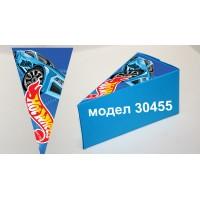 Парченце от Хартиена  торта Модел 30455 не сглобена синя кутийка с картинка