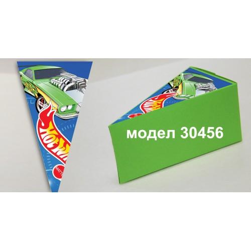 Парченце от Хартиена  торта Модел 30456 не сглобена зелена кутийка с картинка