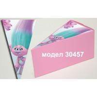 Парченце от Хартиена  торта Модел 30457 не сглобена бледо розова кутийка с картинка