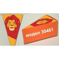 Парченце от Хартиена торта модел 30461 не сглобена оранжева кутийка с картинка