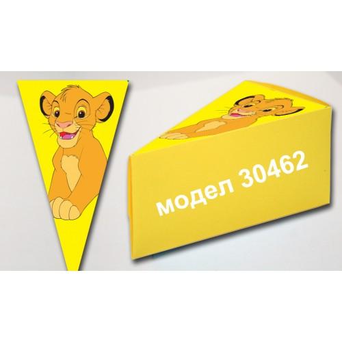 Парченце от Хартиена торта модел 30462 не сглобена жълта кутийка с картинка