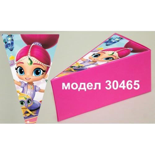 Парченце от Хартиена  торта Модел 30465 не сглобена розова кутийка с картинка