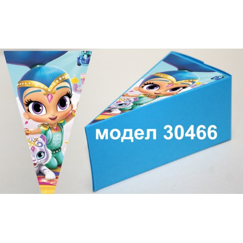 Парченце от Хартиена  торта Модел 30466 не сглобена синя кутийка с картинка