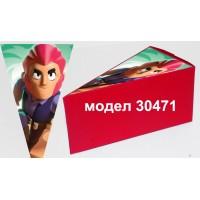 Парченце от Хартиена  торта  Модел 30471 не сглобена червена кутийка с картинка