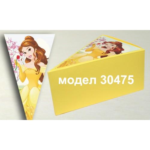 Парченце от Хартиена  торта с украса по избор Модел 30475