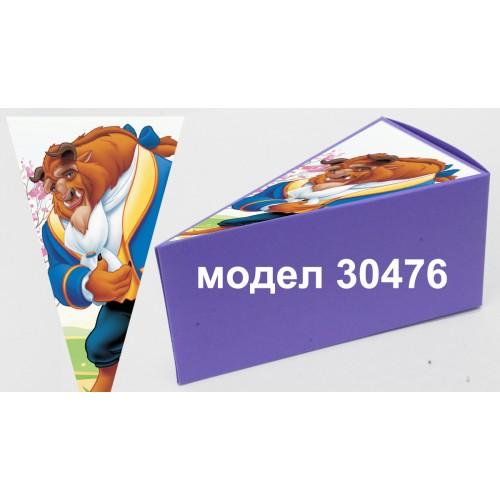 Парченце от Хартиена  торта Модел 30476 не сглобена лилава кутийка с картинка