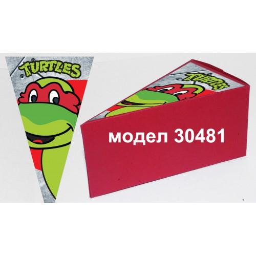 Парченце от Хартиена  торта Модел 30481не сглобена червена кутийка с картинка
