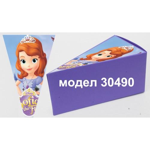Парченце от Хартиена торта Модел 30490 не сглобена лилава кутийка с картинка