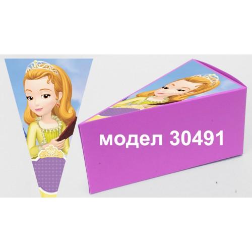 Парченце от Хартиена торта Модел 30491 не сглобена розова кутийка с картинка