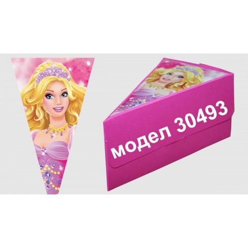 Парченце от Хартиена торта Модел 30493 не сглобена розова кутийка с картинка