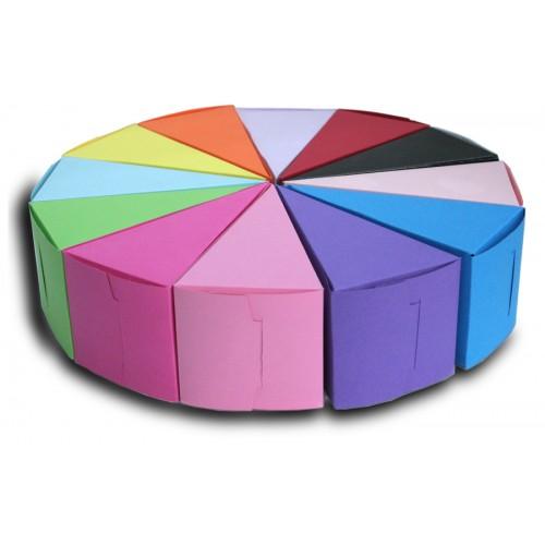 Парченце за хартиена торта едноцветна кутийка не сглобена модел 30002