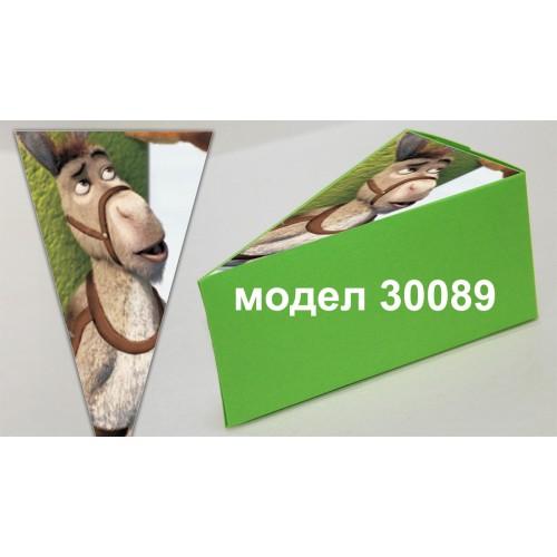 Парченце от Хартиена  торта с украса по избор Модел 30089