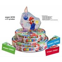Хартиена торта тематична с декорация Супер Марио модел 30765